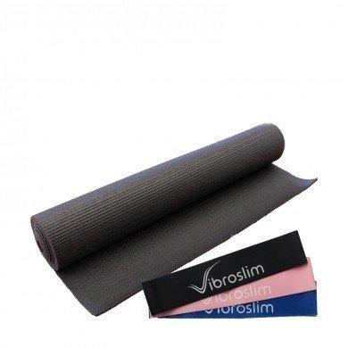 VibroSlim Gymnastikmatte & Fitnessbänder Set