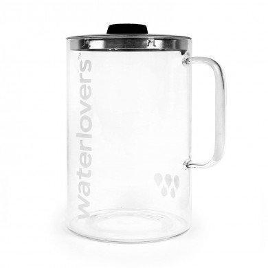 Waterlovers 2.8L Borosilikat Glaskanne mit Logo